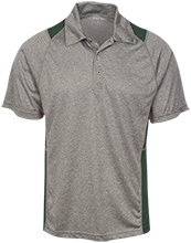 Hackett Catholic Prep Fighting Irish Heather Moisture Wicking Polo
