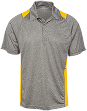 Beachwood High School Bison Heather Moisture Wicking Polo