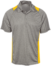 St. Francis Indians Football Heather Moisture Wicking Polo