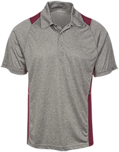 Nutley High School Maroon Raiders Heather Moisture Wicking Polo