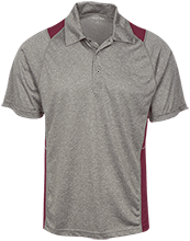 West Side Pirates Athletics Heather Moisture Wicking Polo