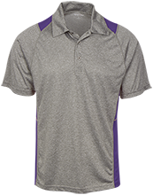 Union Spring Junior Senior High School Wolves Heather Moisture Wicking Polo