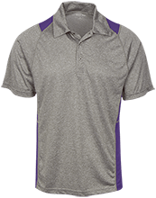 H B Lawrence Elementary School Knights Heather Moisture Wicking Polo