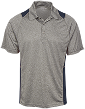 The Heritage High School Hawks Heather Moisture Wicking Polo