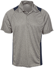 Del Val Wrestling Wrestling Heather Moisture Wicking Polo