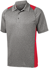 Eisenhower HS (Blue Island) Cardinals Heather Moisture Wicking Polo