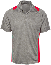Mechanicville High School Red Raiders Heather Moisture Wicking Polo