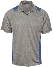 Baker Elementary School Bobcats Heather Moisture Wicking Polo