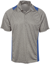East Taylor Elementary School Blue Jays Heather Moisture Wicking Polo