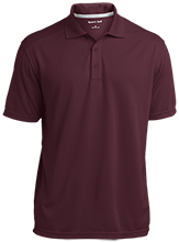 Nutley High School Maroon Raiders Micro-Mesh Three Buttoned Polo