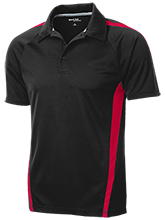 Vernon E Greer Middle School Mustangs Mens Custom Colorblock 3-Button Polo
