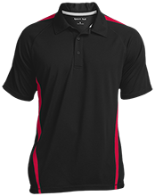 School Mens Custom Colorblock 3-Button Polo