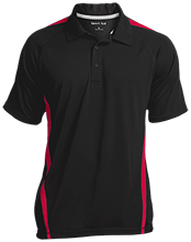 Breast Cancer Mens Custom Colorblock 3-Button Polo