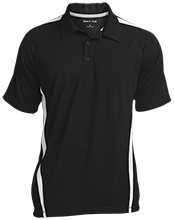 Black River Elementary School Pirates Mens Custom Colorblock 3-Button Polo