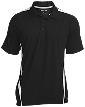 Horse Creek Elementary School Eagles Mens Custom Colorblock 3-Button Polo