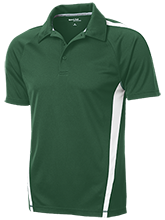 South County Secondary School Stallions Mens Custom Colorblock 3-Button Polo