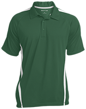 Madison Comprehensive High Rams Mens Custom Colorblock 3-Button Polo