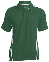 St. Francis Indians Football Mens Custom Colorblock 3-Button Polo