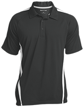 Longview School School Mens Custom Colorblock 3-Button Polo