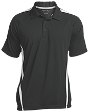 Marlton Christian Academy School Mens Custom Colorblock 3-Button Polo