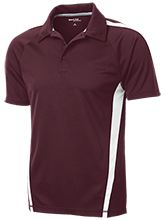 West Point High School Warriors Mens Custom Colorblock 3-Button Polo