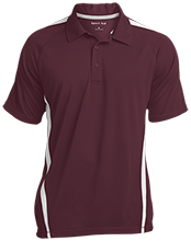 Akiva School Mens Custom Colorblock 3-Button Polo