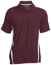 West Side Pirates Athletics Mens Custom Colorblock 3-Button Polo