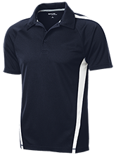 Elm City Elementary School Eagles Mens Custom Colorblock 3-Button Polo