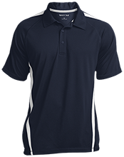 Broad Meadows Middle School School Mens Custom Colorblock 3-Button Polo