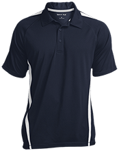 Lansing Eastern High School Quakers Mens Custom Colorblock 3-Button Polo