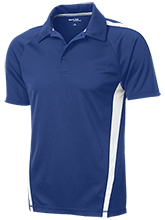 Oakview Elementary School Acorns Mens Custom Colorblock 3-Button Polo