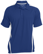 Pleasantville Elementary School Patriots Mens Custom Colorblock 3-Button Polo