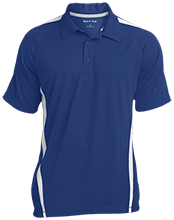 Milner Crest Elementary School Cougars Mens Custom Colorblock 3-Button Polo