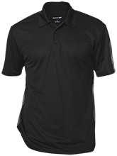 Pickens High School Blue Flame Performance Textured Three-Button Polo