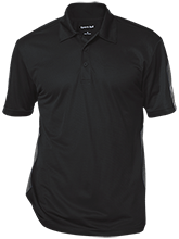 Breast Cancer Performance Textured Three-Button Polo
