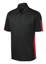 McCutchenville Elementary School Indians Performance Textured Three-Button Polo