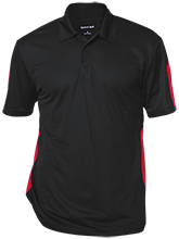The Heritage High School Hawks Performance Textured Three-Button Polo