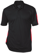 Alternative Education Center School Performance Textured Three-Button Polo