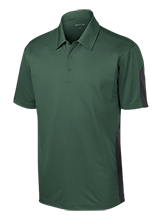 Mesa Middle School Panthers Performance Textured Three-Button Polo