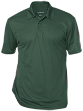Saint Thomas More School Lions And Lambs Performance Textured Three-Button Polo