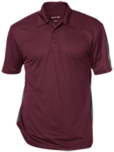 Las Lomas High School Knights Performance Textured Three-Button Polo