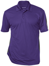 Blue Springs High School Wildcats Performance Textured Three-Button Polo