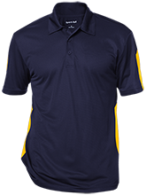 Broad Meadows Middle School School Performance Textured Three-Button Polo