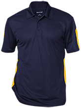 Del Val Wrestling Wrestling Performance Textured Three-Button Polo