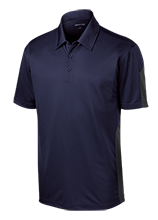South County Secondary School Stallions Performance Textured Three-Button Polo