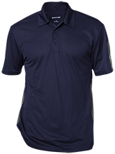 Earle B Wood Middle School Mustangs Performance Textured Three-Button Polo