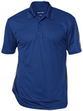Henry B Du Pont Middle School Warriors Performance Textured Three-Button Polo