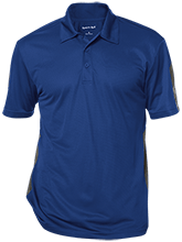 East Taylor Elementary School Blue Jays Performance Textured Three-Button Polo