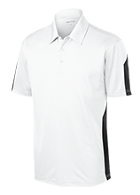 Lovell Middle School Mustangs Performance Textured Three-Button Polo