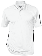 Adams Middle School Raccoons Performance Textured Three-Button Polo